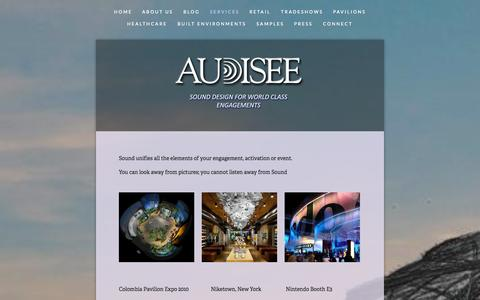 Screenshot of Services Page audisee.com - Services — Audisee - captured Sept. 30, 2014