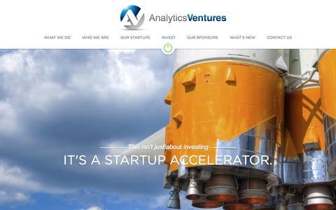Screenshot of Home Page analytics-ventures.com - Analytics Ventures - captured Jan. 21, 2015