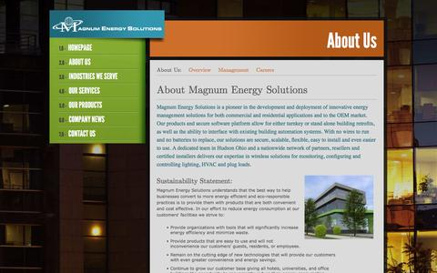 Screenshot of About Page magnumenergysolutions.com - About Magnum Energy Solutions: Magnum Energy Solutions - captured Feb. 4, 2016