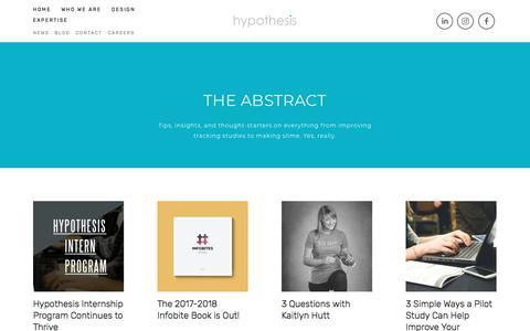 Screenshot of Blog hypothesisgroup.com - Blog — Hypothesis Group - captured May 23, 2018