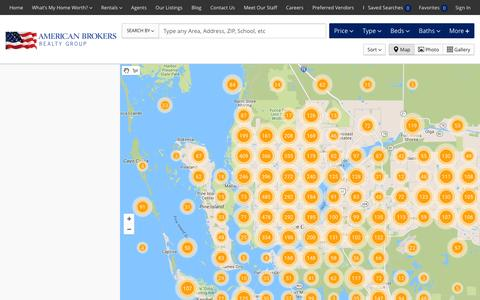 Screenshot of Maps & Directions Page americanbrokers.com - Real Estate Search Results :: Cape Coral Homes For Sale :: American Brokers Realty Group - captured Feb. 6, 2016