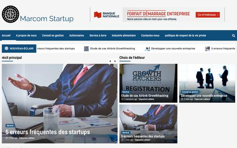 Screenshot of Home Page Privacy Page marcom-startup.com - Marcom Startup -  Laissez votre entreprise s'épanouir - captured Nov. 7, 2018