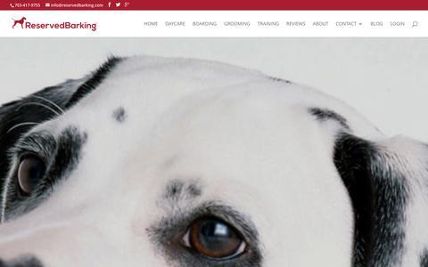 Screenshot of Jobs Page reservedbarking.com - Careers at Reserved Barking in Alexandria VA - captured Jan. 11, 2016