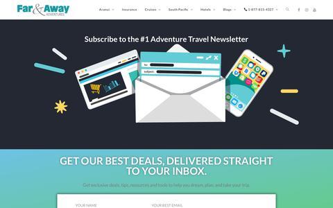 Screenshot of Signup Page farandawayadventures.com - Sign Up - Far and Away Adventures - captured Aug. 12, 2018