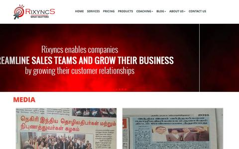 Screenshot of Press Page rixyncs.co.in - Rixyncs   Contact Us - captured Dec. 11, 2016