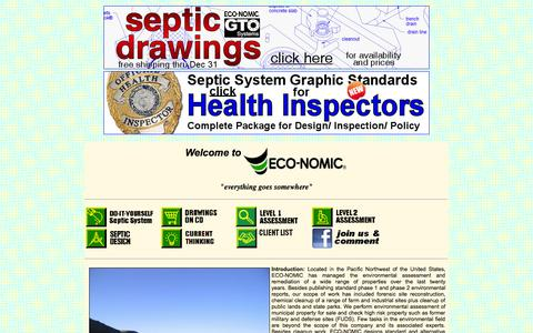 Screenshot of Home Page eco-nomic.com - ECO-NOMIC homepage - captured Sept. 29, 2014