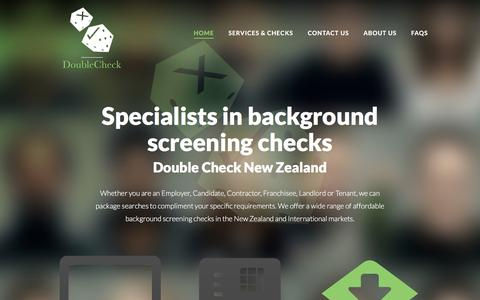 Screenshot of Home Page doublechecknz.co.nz - Specialists in background screening checks - Double Check NZ - captured Oct. 12, 2017