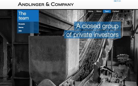 Screenshot of Team Page andlinger.com - The Andlinger Team - captured Oct. 4, 2014
