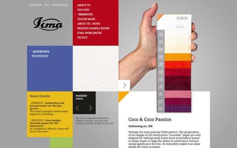 Screenshot of Products Page icma.it - ICMA - Collezioni estetiche - captured Feb. 2, 2016