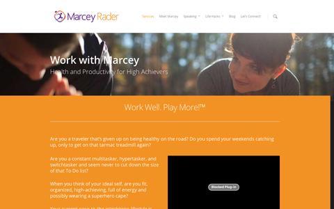 Screenshot of Services Page marceyrader.com - Services - MarceyRader.com - captured Dec. 19, 2015