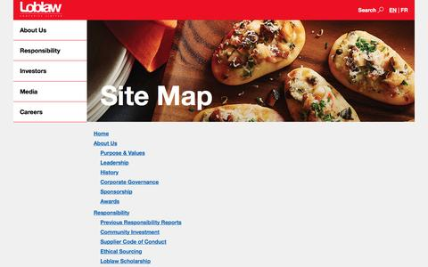 Loblaw Companies Limited - Site Map