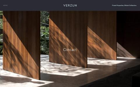 Screenshot of Contact Page verzun.com - Verzun contact details - Finest Properties Worldwide - captured Feb. 17, 2016