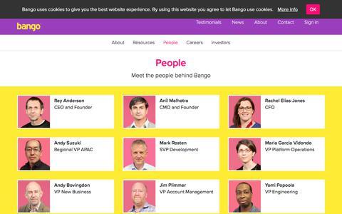 Screenshot of Team Page bango.com - Meet the people behind Bango   Bango - captured May 23, 2018