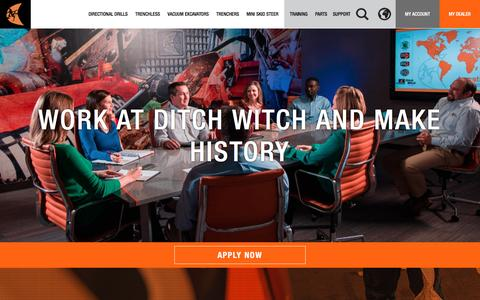 Screenshot of Jobs Page ditchwitch.com - Careers | Ditch Witch - captured Aug. 2, 2016