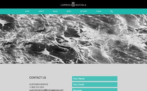 Screenshot of Contact Page lorenagaxiola.com - Contact   Lorena Gaxiola - captured Sept. 16, 2014