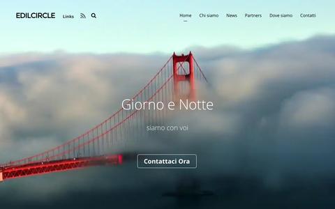 Screenshot of Home Page edilcircle.it - Edilcircle - captured Oct. 26, 2016