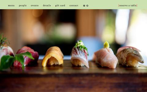 Screenshot of Home Page sushiran.com - Sushi Ran   107 Caledonia St., Sausalito, California - captured June 19, 2015