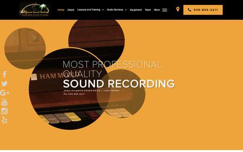 Screenshot of Home Page casoundstudios.com - Home - California Sound Studios - captured Oct. 17, 2016