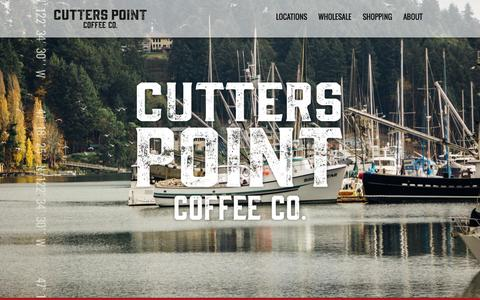 Screenshot of Home Page cutterspoint.com - Cutters Point Coffee Co. - captured Feb. 14, 2016