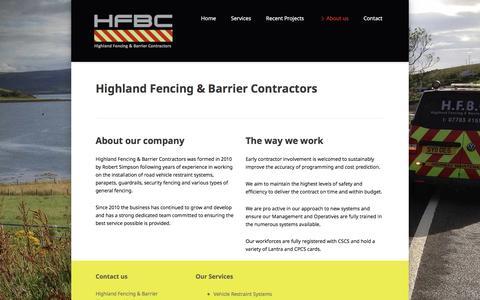 Screenshot of About Page hfbc-uk.com - About us - HFBC - captured Nov. 9, 2016