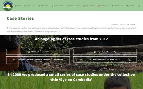 Screenshot of Case Studies Page crdt.org.kh - The Cambodian Rural Development Team   –  Case Stories - captured Jan. 25, 2016