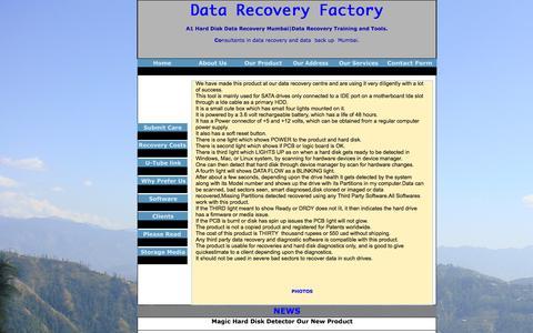 Screenshot of Press Page datarecoveryfactory.com - MAGIC DISK DETECTOR - captured Oct. 4, 2014