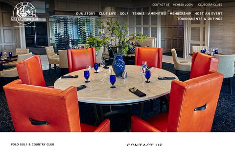Screenshot of Contact Page clubcorp.com - Contact Us | Polo Golf & Country Club - captured Sept. 28, 2018