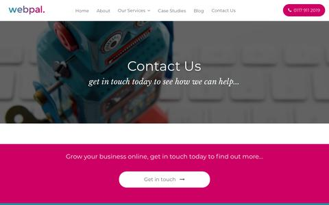 Screenshot of Contact Page webpal.co.uk - Contact Us - Webpal Online Marketing - captured Nov. 15, 2017