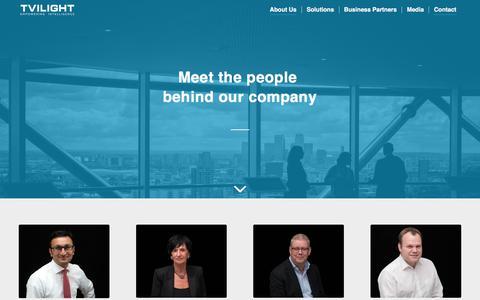 Screenshot of Team Page tvilight.com - Team members – Tvilight – Empowering Intelligence - captured Oct. 6, 2017