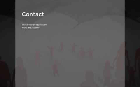 Screenshot of Contact Page spencerseibert.com - Contact — Spencer Seibert - captured March 29, 2016