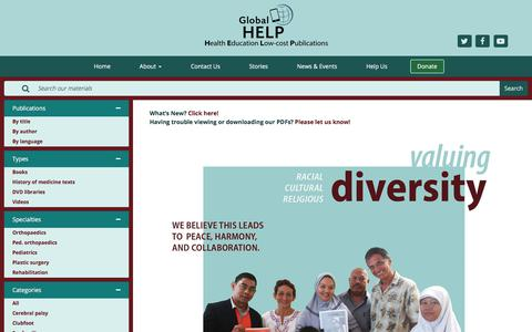 Screenshot of Home Page global-help.org - Global HELP - captured Aug. 8, 2017
