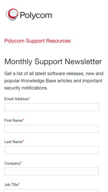 Polycom Support Resources