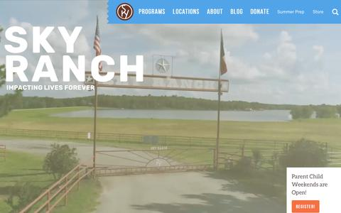 Screenshot of Home Page skyranch.org - Sky Ranch Christian Camps | Texas, Colorado & Oklahoma - captured Oct. 19, 2018