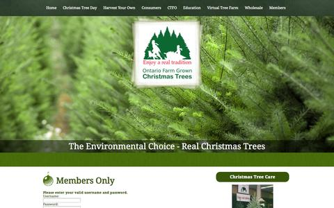 Screenshot of Login Page christmastrees.on.ca - Members-Only Section - captured Oct. 2, 2014