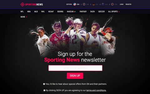 Screenshot of Signup Page sportingnews.com - Newsletters | Sporting News - captured Sept. 21, 2018