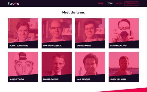 Screenshot of Team Page foove.nl - Foove - captured Sept. 30, 2014
