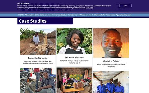 Screenshot of Case Studies Page twam.uk - Tools with a Mission | Case Studies - captured July 7, 2018