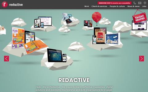 Screenshot of Home Page redactive.co.uk - Home – - captured Sept. 23, 2018
