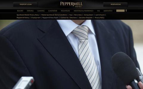 Screenshot of Press Page peppermillreno.com - Press Room - captured Nov. 4, 2014