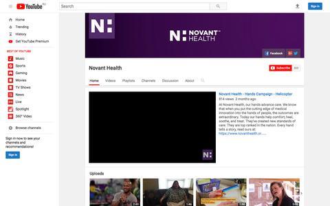 Novant Health  - YouTube