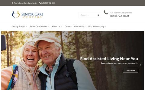 Screenshot of Home Page senior-care-centers.com - Senior Living and Nursing Home Facilities in Texas and Louisiana - Senior-Care-Centers.com - captured Oct. 18, 2018