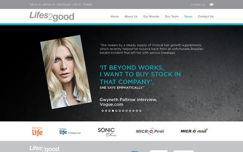 Screenshot of Press Page lifes2good.com - Lifes2Good – News - captured May 17, 2019