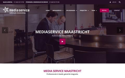 Screenshot of Home Page mediaservicemaastricht.nl - Media Service Maastricht - Uw partner in audiovisuele dienstverlening - captured Sept. 27, 2018