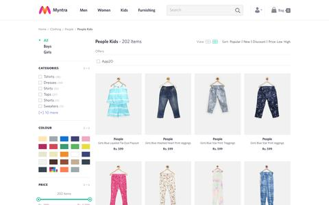 Screenshot of Team Page myntra.com - People Kids - Buy People Kids online in India - captured May 28, 2016