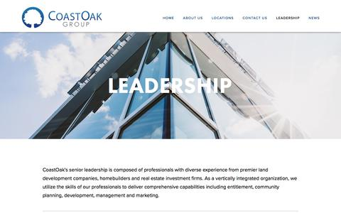 Screenshot of Team Page coastoakgroup.com - Leadership — CoastOak Group - captured July 19, 2018