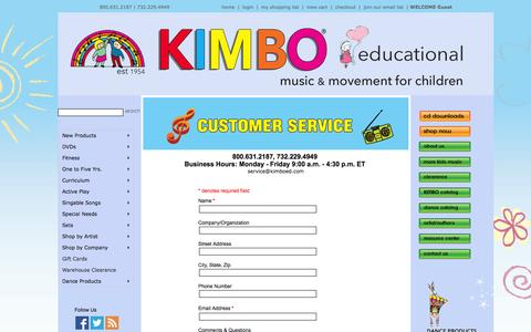 Screenshot of Contact Page Support Page kimboed.com - Use Music and Movement Activities With Brain Based Learning From KimboEd.com - Contact Us - captured Oct. 23, 2014