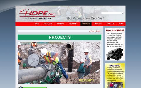 Screenshot of Case Studies Page hdpeinc.com - HDPE Inc. - Projects - captured Sept. 27, 2014