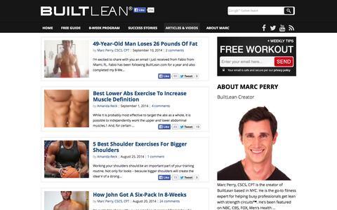 Screenshot of Blog builtlean.com - Health & Fitness Articles To Lose Fat & Build Muscle - BuiltLean.com - captured Sept. 18, 2014