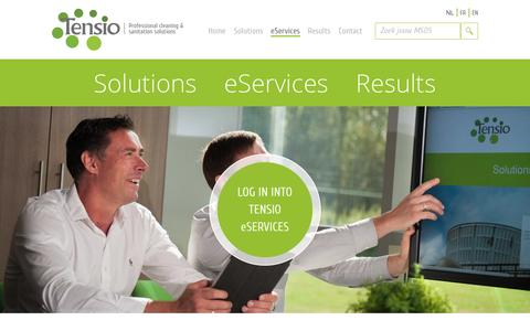 Screenshot of Services Page tensio.be - Services : Tensio - captured Oct. 26, 2014
