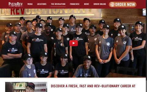 Screenshot of Jobs Page pizzarev.com - Careers - PizzaRev - captured July 19, 2018